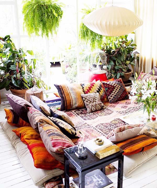 ghế sofa phong cách Bohemian